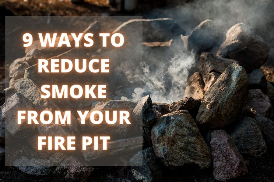 reduce smoke from fire pit