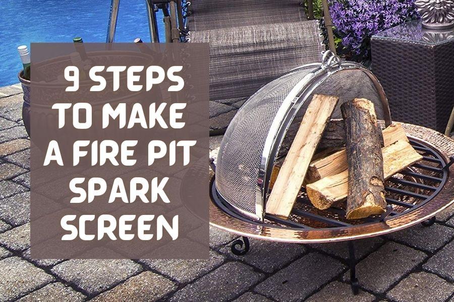 diy fire pit spark screen