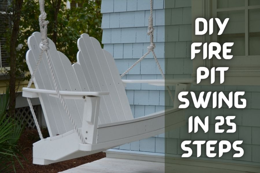 diy fire pit swing